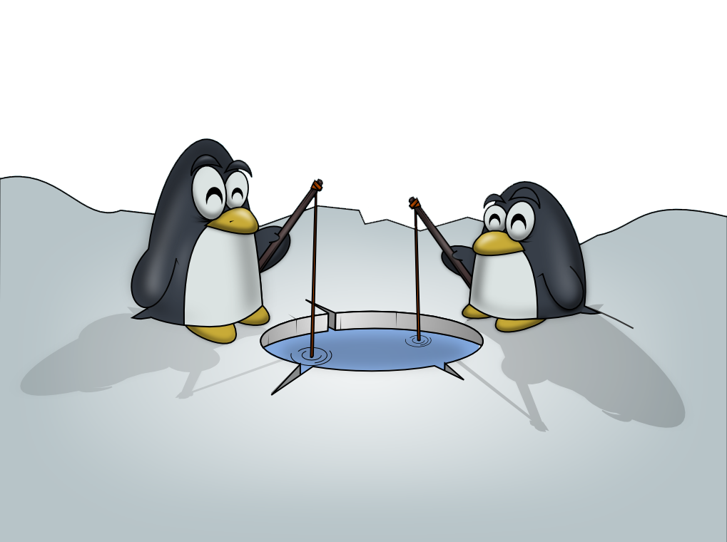Penguin clipart fish Art Two Page Use Art