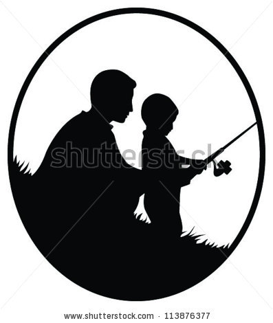 Hunting clipart father and son #2