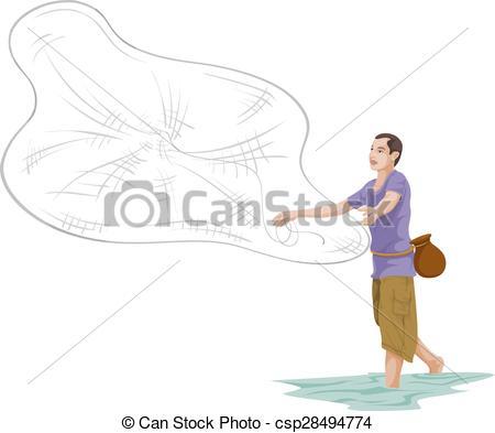 Fishing Net clipart man fishing Of of Vector Vectors fishing
