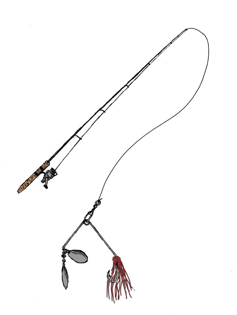 Fishing Rod clipart cartoon Kid and fishing reel kid