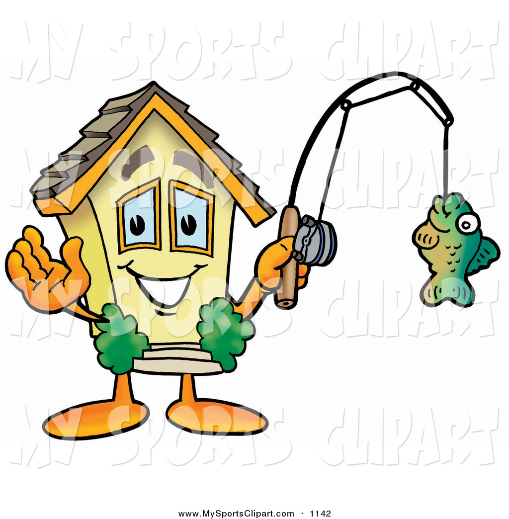 Fishing Rod clipart cartoon character On Royalty Sports a Free