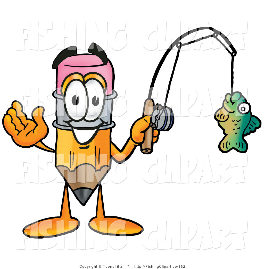 Fishing Rod clipart cartoon character Sporty Fishing a Fishing Holding