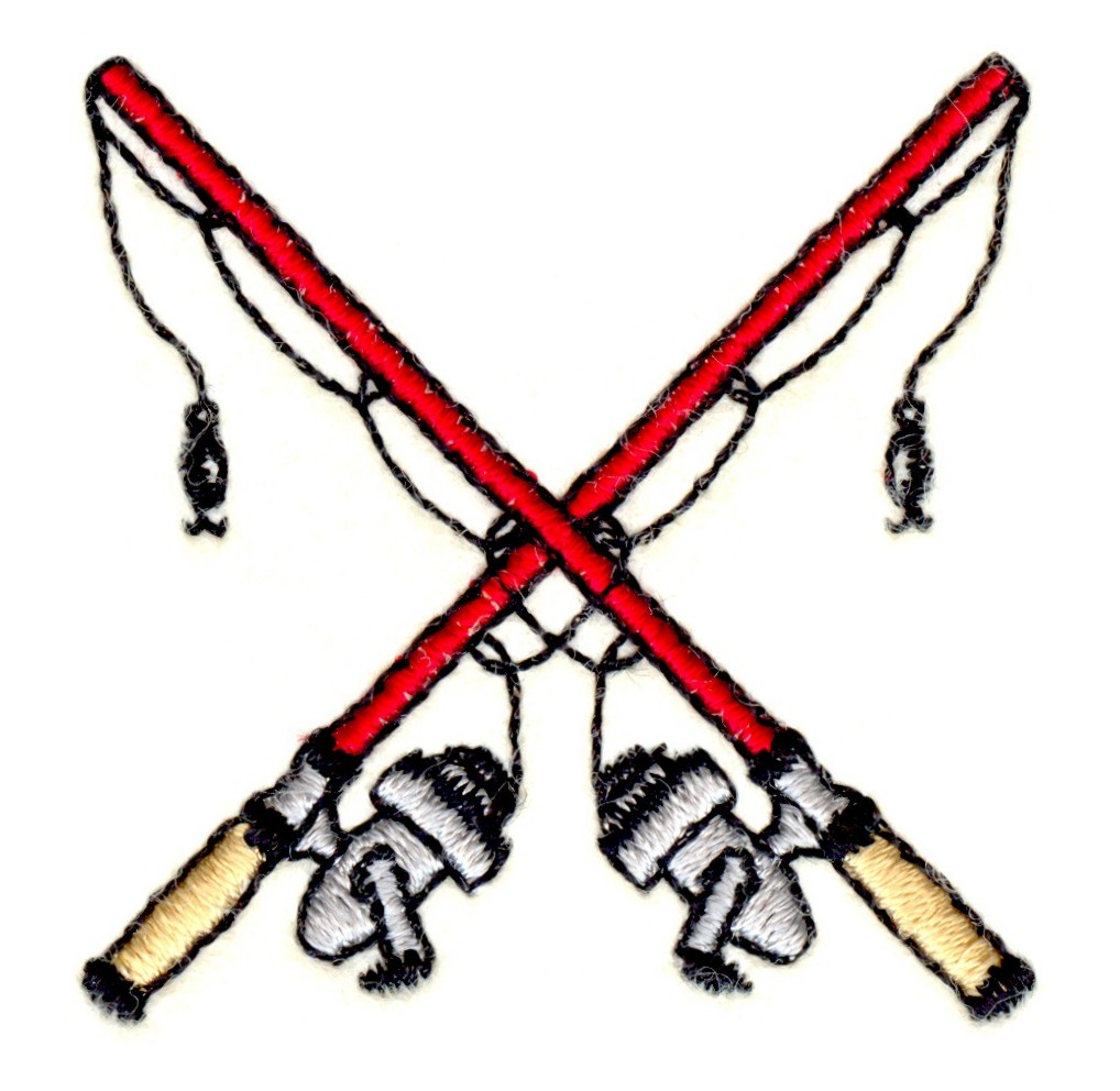 Fishing Rod clipart crossed #3