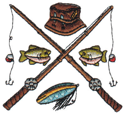 Fishing Rod clipart crossed #4