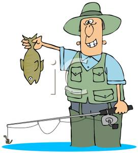 Fisherman clipart fishing pole Posing holding deanlevin a Rod
