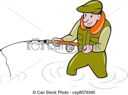 Fishing Rod clipart fisherman Of Fishing Fishing Fisherman
