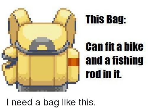 Fishing Rod clipart pokemon Fit I Bag bike Bag