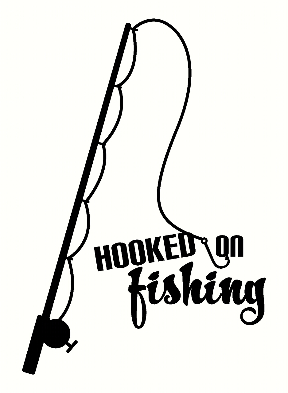Fishing Rod clipart real Fish Decal Fishing Decal Sticker