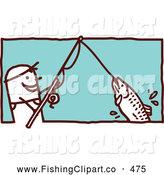 Fishing Rod clipart stick figure Man Reeling Fishing NL of