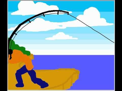 Fishing Rod clipart stick figure Fishing project pivot animation fishing