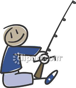 Fishing Rod clipart stick figure Pole