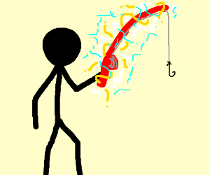 Fishing Rod clipart stick man Is power!