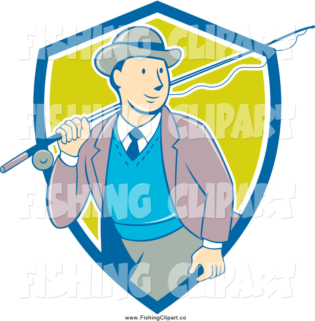 Fishing Rod clipart vintage Of by  Rod over