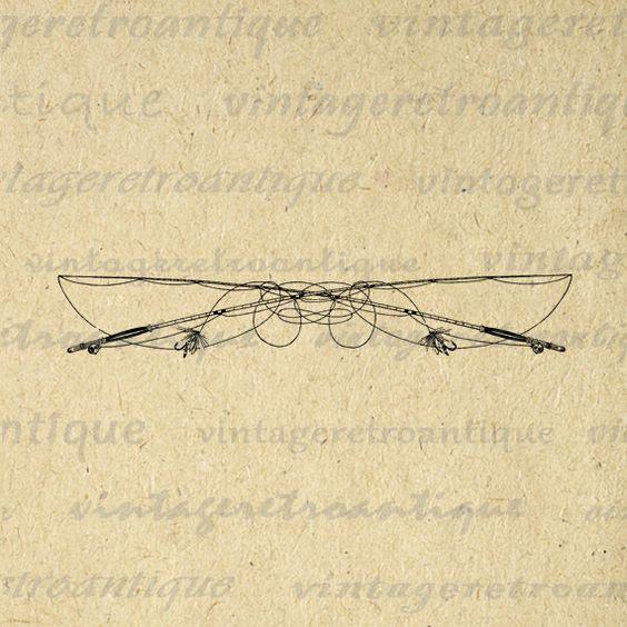 Fishing Rod clipart vintage Vintage Clip Printable Art Fly
