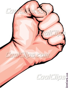 Fist clipart clenched fist Vector fist Clenched fist art