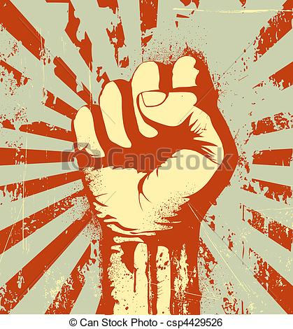 Fist clipart clenched fist Fist of Art clenched Vector