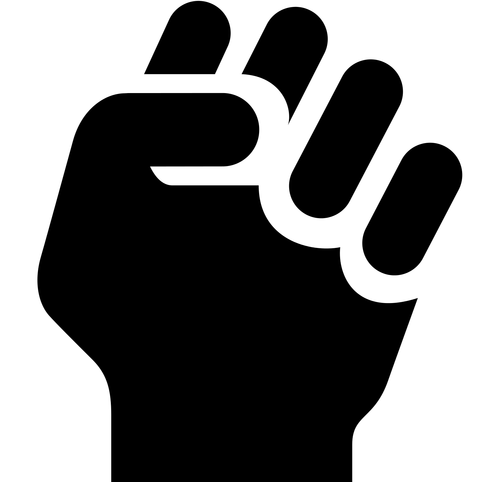 Fist clipart clinched Icon Clenched Fist and Fist