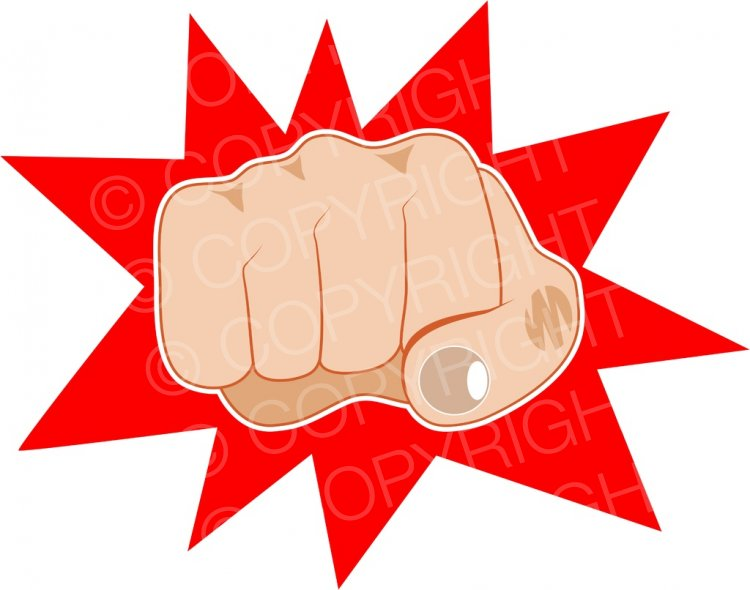 Fist clipart clinched Clip Clip A Clenched
