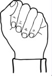 Fist clipart purple Closed hand Xara Hands clipart