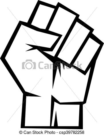 Fist clipart drawing raised Search  icon csp39782258 vector
