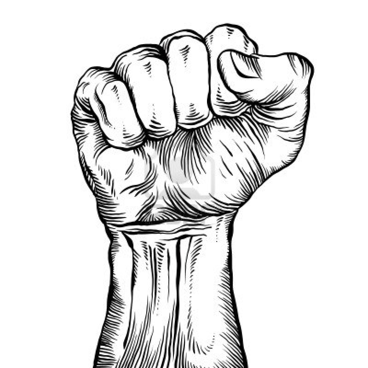 Fist clipart drawing raised Drawing Raised Images: pl cdn03