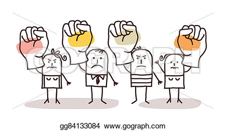 Fist clipart drawing raised Drawing Cartoon Drawing people group