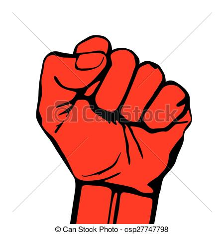 Fist clipart drawing raised Hand protest icon csp27747798 vector