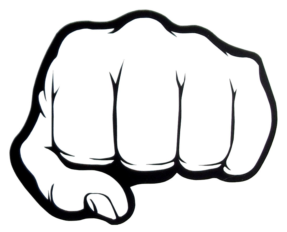 Fist clipart fist punch 1092x883 Fist Bump Cartoon Car