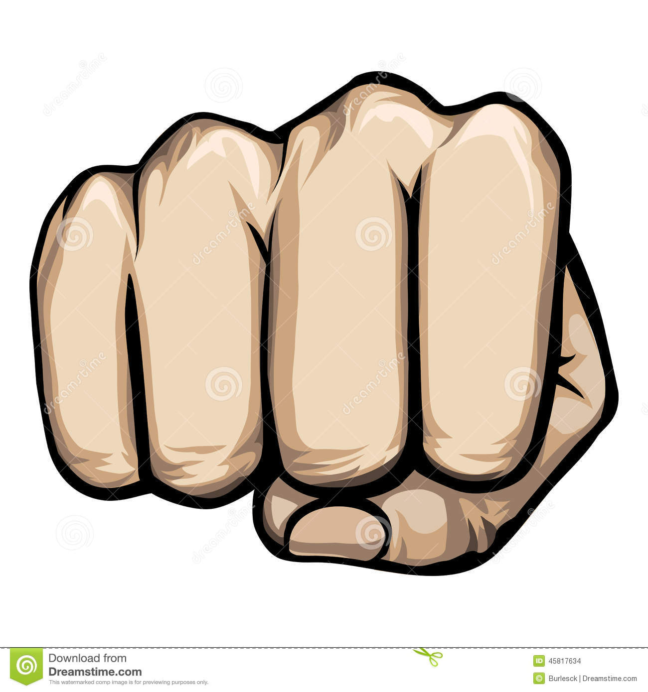 Fist clipart fist punch Punching Closed Fist Clipart