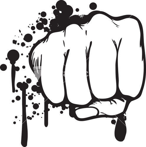 Fist clipart grunge With Abstract Stock Image Fist