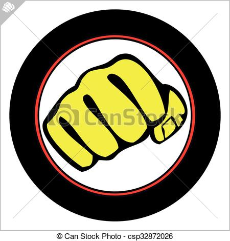 Fist clipart karate Logo boxing karate  of