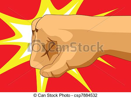 Fist clipart knockout Clip Illustrations a fist Punch