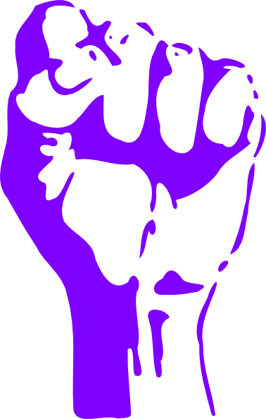 Fist clipart purple #3