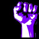 Fist clipart purple #2