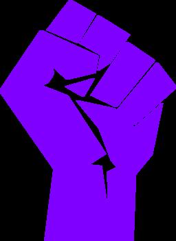 Fist clipart purple #5
