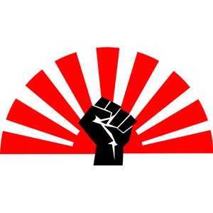 Fist clipart red Flag of free formats png