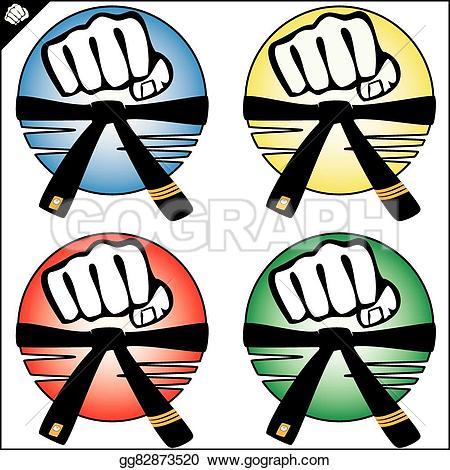 Fist clipart taekwondo Power mma box mma Vector