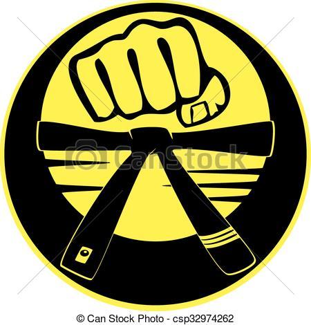 Fist clipart taekwondo  logo taekwondo strong of