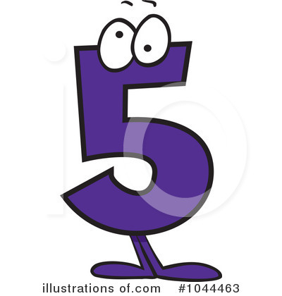 Five clipart Number by Royalty Clipart Illustration