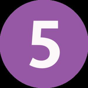 Five clipart Five  Five Art at