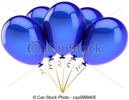 Balloon clipart five In bunch csp5999405 in of
