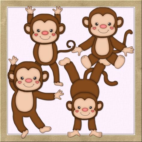 Iiii clipart little monkey Clipart Art Boys Monkeys Clip