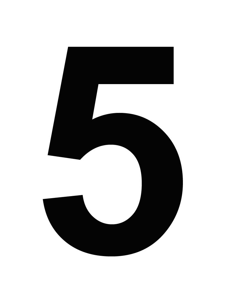Black clipart number 5 Pentaphobia Wiki Phobia Wikia by