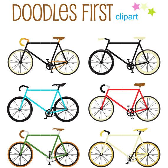 Fixie clipart Card Scrapbooking Bikes Art Digital