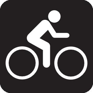 Fixie clipart bike symbol Bicycle Clker Black online Clip