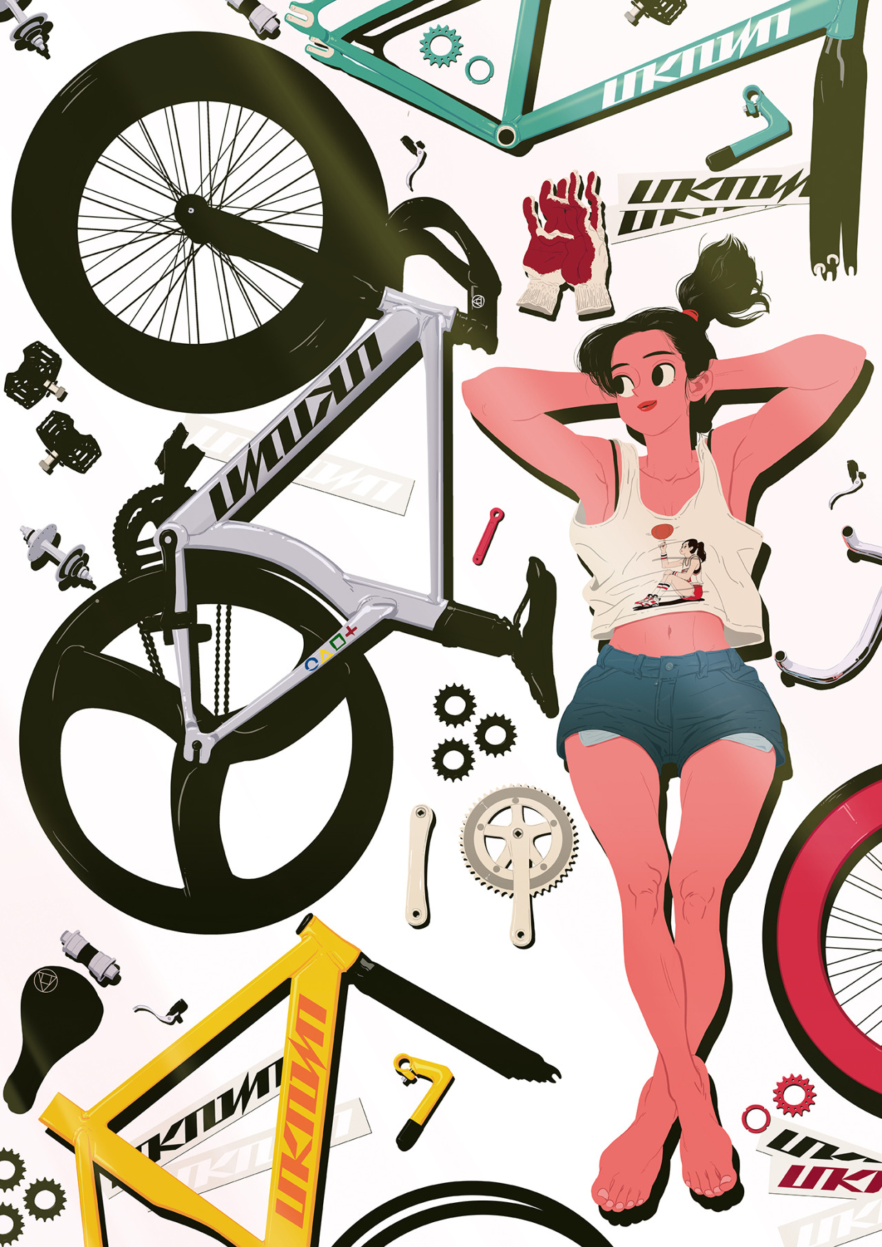 Fixie clipart cartoon (UNKNOWN  All Rights )