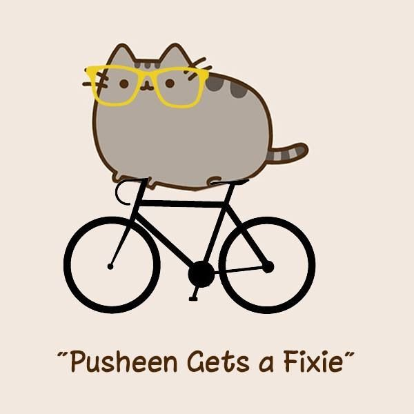Fixie clipart cartoon About Fixie town gets Pusheen