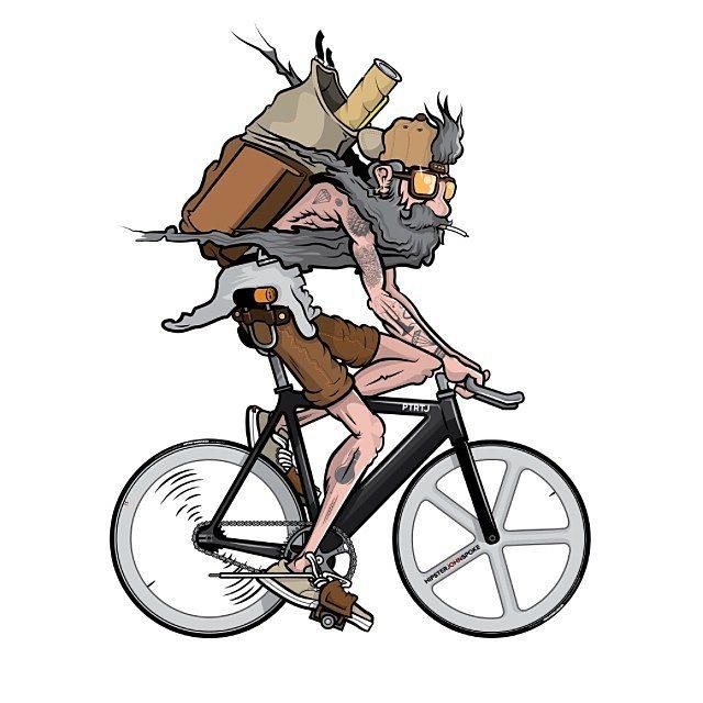 Drawn bike fixie #1