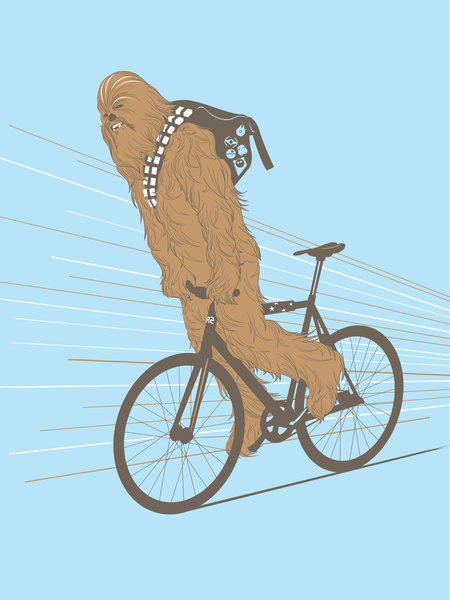Fixie clipart road cycling Chewbacca Fixie en Chewaka