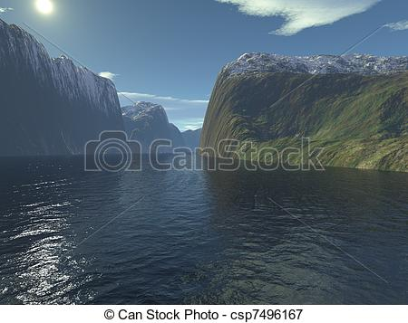 Fjord clipart Geothermal Energy Clipart 3d  Fjord of Scandinavian
